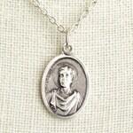 Saint Genesius Medal Necklace. St Genesius Necklace. Catholic Necklace. Patron Saint Necklace. Saint Medal Necklace. Catholic Jewelry.