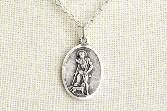 Qty 1 Saint Lazarus Charm Catholic Saint Medal 25mm x 16mm Saint Lazarus Medal St Lazarus Pendant Catholic Pendant
