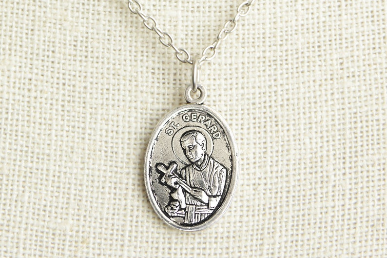 Saint Gerard Medal Necklace. St Gerard Necklace. Catholic image 0