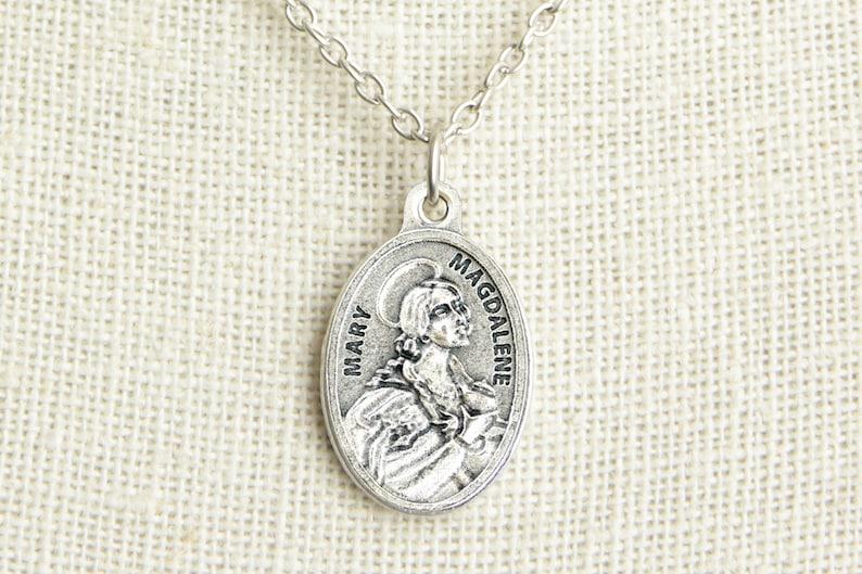 3cfdc449960 Saint Mary Magdalene Medal Necklace. St Mary Magdalene | Etsy