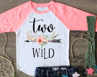 Two Wild Birthday Shirt Raglan Second 2nd Boho Outfit