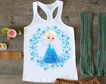Raw Edge Frozen Fringe Top Named Fringe Top Frozen Shirt Personalized Top Sheer Jersey Anna Elsa Top V Fringe Top Princess Elsa