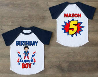 Superman Birthday Shirt Five 5th Outfit Fifth Boys