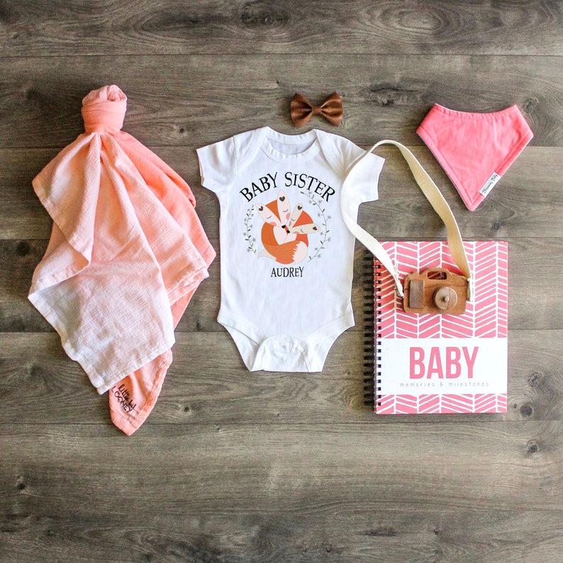 abf1553b9 Newborn ONESIE® Baby Sister ONESIE® Baby Sister Top Little | Etsy