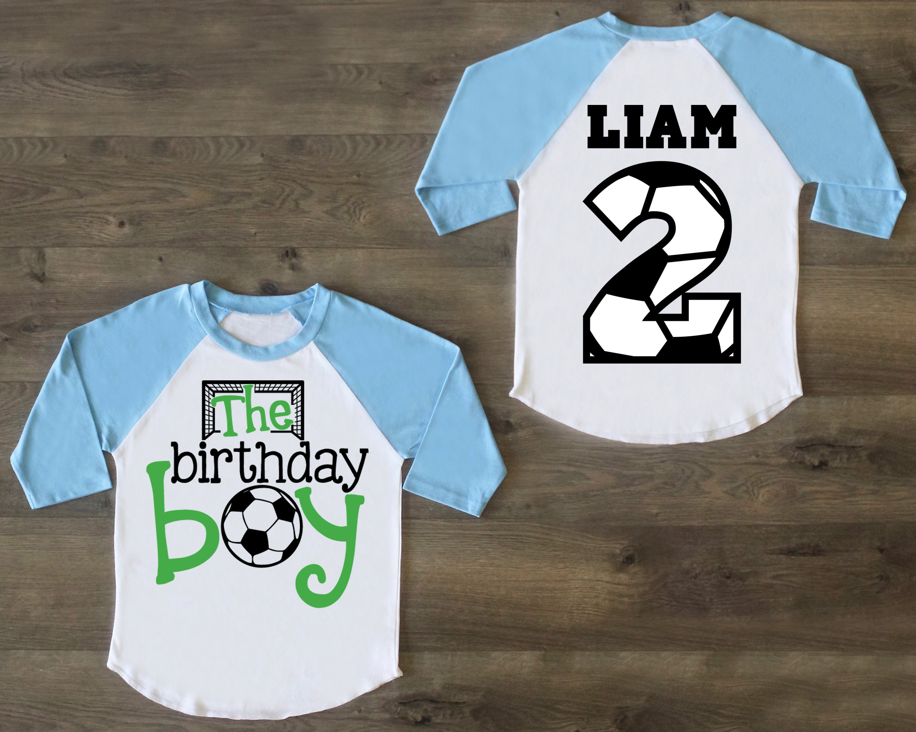 7c95c0a2 Soccer Birthday Boy Shirt, Second Birthday, Shirt, Two Birthday Outfit, Two  Birthday Raglan, 2nd Birthday Shirt, First Birthday Boy
