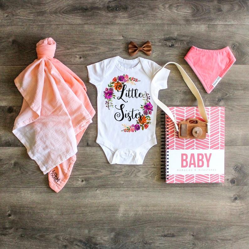 Newborn ONESIE\u00ae Big Sister Little Sister Outfit Baby Sister ONESIE\u00ae Little Sister ONESIE\u00ae Little Sister Shirt Take Home Outfit