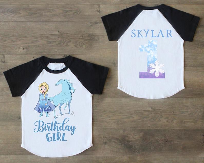 One Birthday Outfit Frozen Birthday Girl Princess Elsa Birthday Top First Birthday Raglan First Birthday Shirt 1st Birthday Shirt