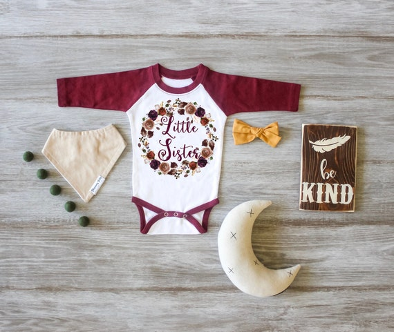 Big Sister Shirt Little Sister Raglan Big Sister Little Sister Outfit Photo Prop Pregnancy Announcement Custom Outfit Newborn Gift