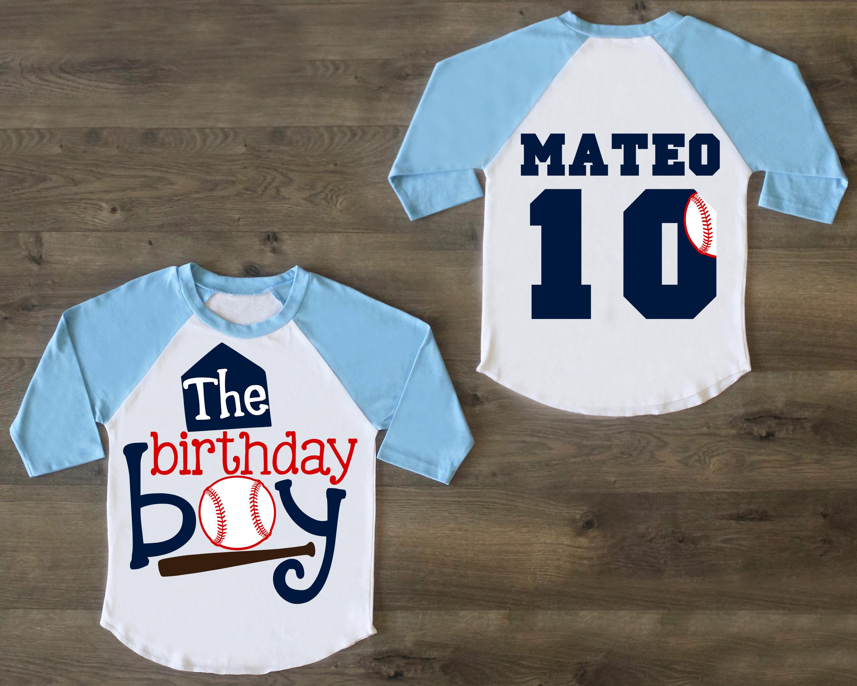Birthday Boy Shirt Ten Tenth Outfit 10 Raglan 10th Custom Boys