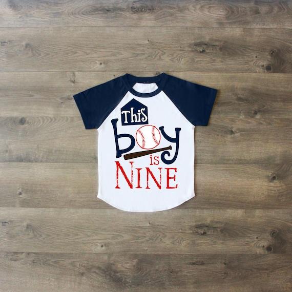 Birthday Boy Shirt Nine Ninth