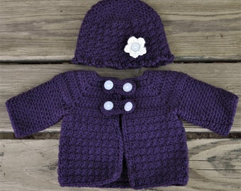 Baby Girl's Purple Layette