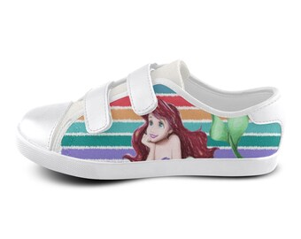 863d3e8fc31d Little Mermaid Canvas Kids Shoes