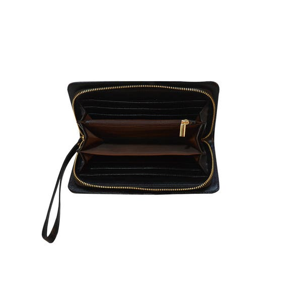 Rainbow Pitbull Zipper Canvas Coin Purse Wallet Make Up Bag,Cellphone Bag With Handle