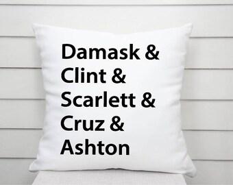 Family Names Cushion, Personalised Cushion, Kids Names Cushions, Wedding Gift, Birthday Gift, Anniversary Gift, Family Tree, Custom Pillow