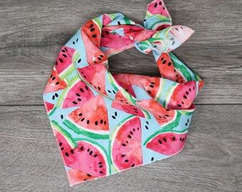 Reversible Watermelon Dog Bandana Red Personalized Over The Collar Pink Spring Summer Watermelon Dog Bandana Girl Dog Scarf Slip On