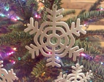 2 Snowflake ornaments | Christmas ornament | tree ornaments | christmas snowflake | wedding ornament | holiday ornament