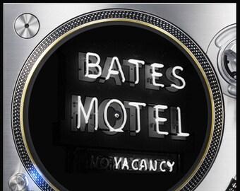 Bates Motel Neon Sign Horror #3 12 inch Slipmat Turntable Vinyl Audiophile DJ DJing 16 oz. x1