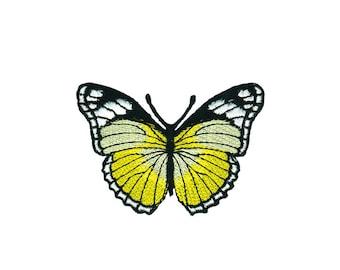 blau Schmetterling Tier Aufnäher // Bügelbild 8,3x6,6cm