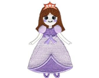 au64 Prinzessin Krone Schwarz Aufnäher Bügelbild Patch Applikation Kinder DIY