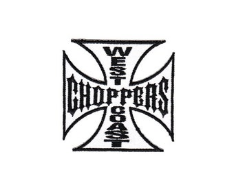 ac050fa53 As08 Iron Cross white Chopper patch Biker tattoo hanger application patch  patches Kids size 6.5 x 6.5 cm
