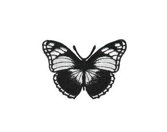 ae13 Schmetterling Falter Butterfly Aufnäher Bügelbild Patch Flicken 7,5 x 5 cm
