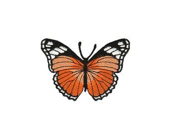 ae58 Schmetterling Falter Butterfly Aufnäher Applikation Bügelbild 8,1 x 5,5 cm