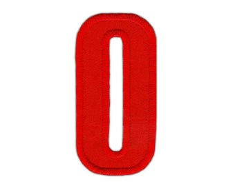 ao90 Zahl 8 Acht Rot Nummer Aufnäher Bügelbild Applikation Patch 2,5 x 5,0 cm