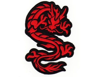 f5912f0f7 An91 Dragon Red Tattoo Asia patch hanger application Patch Patches size 9.0  x 6.5 cm