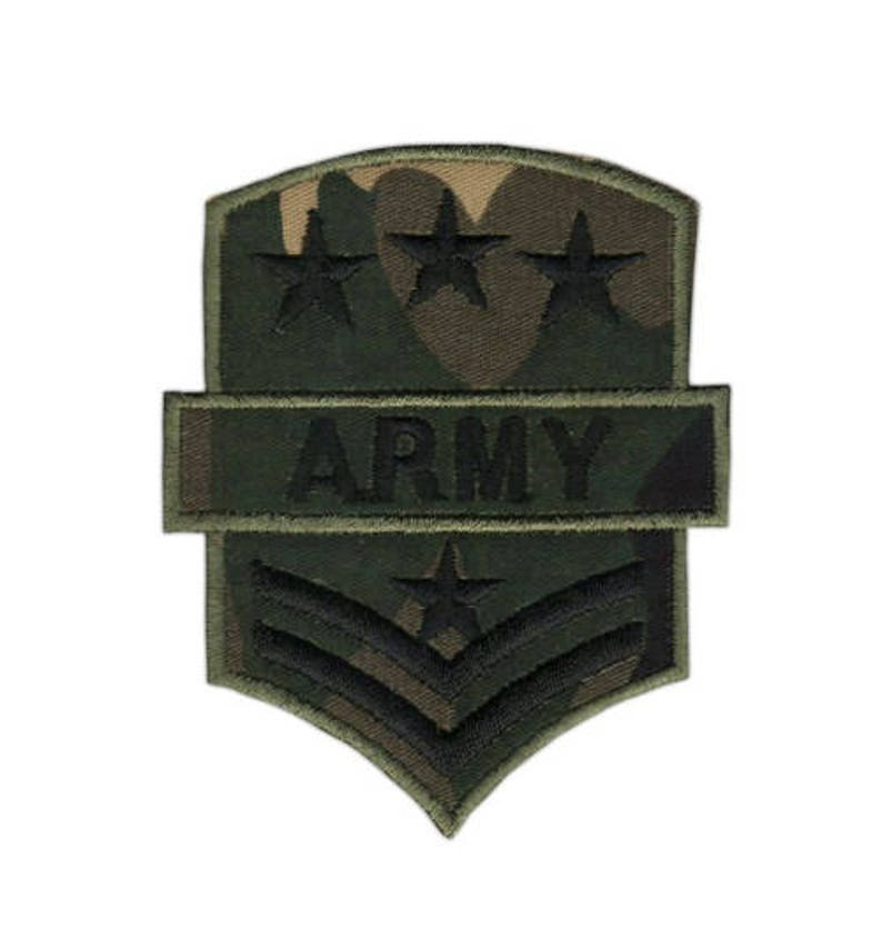 AG28 Army badge Embroidery Patch frame Application patches size 6.5 x 8.0 cm