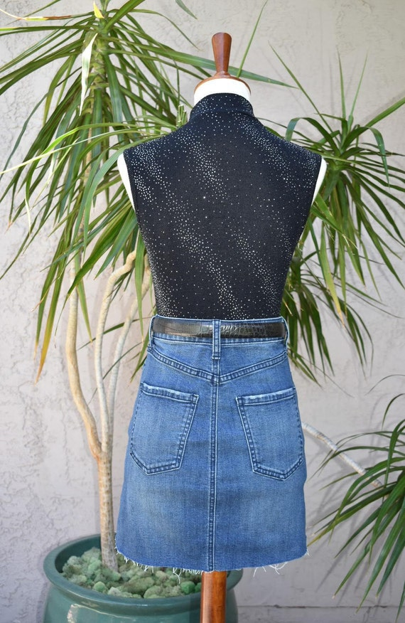 1990's Sleeveless summer top, sparkly turtleneck,… - image 2