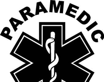 Paramedic Star of Life Sticker/Decal