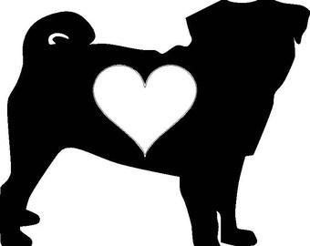 PUG LOVE Sticker/Decal