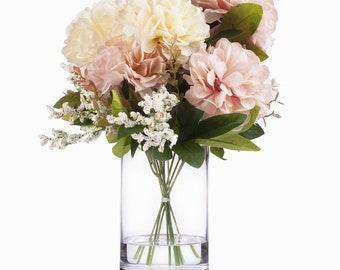 Silk Flowers In Vase Etsy