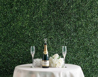 Enova Home 12 Panels 33 Sq ft. Artificial Boxwood Hedge Faux Foliage Greenery Wall Backdrop Decoration for Party Wedding Indoor & Outdoor