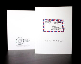 """5.5""""x4"""" Air Mail Envelope/Letter Greeting Card"""