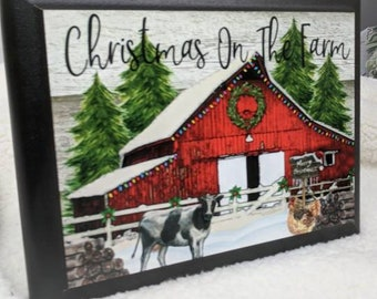 A beautiful sublimated plaque, comes with a stand. It is a 5x7 cherry edged plaque. Remember days gone by on the farm. Great memories.