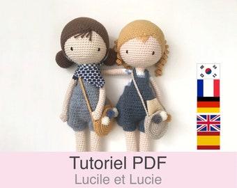 Tutoriel PDF en Français/English/Deutsch/Español/Korean poupée au crochet, patron de base, explications modele au crochet