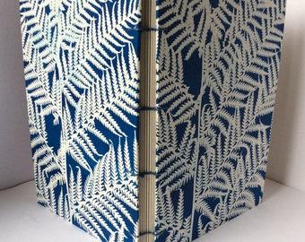 Sun Printed Fern Hand Bound A5 Coptic Stitch Gratitude book