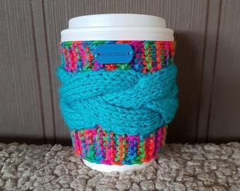 Knitted mug warmer, Coffee Mug Cozy, Coffee Cup Sleeve, Coffee Gifts, Cup Cosy, Hand Knit Coffee Cozy, Handmade, Kitchen decor, Knitted gift