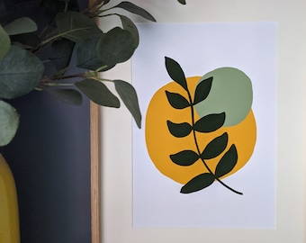 Leaf Print, Abstract Wall Art