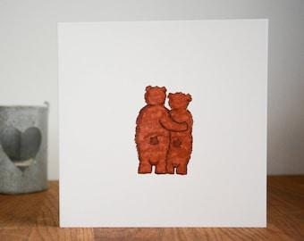 Bear Anniversary card,Bears Valentines Card, Cute Bears, Cute Bears Valentines card, Cute Bears Anniversary Card, Wedding Card