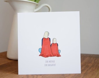 Like Mother Like Daughter, Superhero Mothers Day Card, Supermum Greetings Card