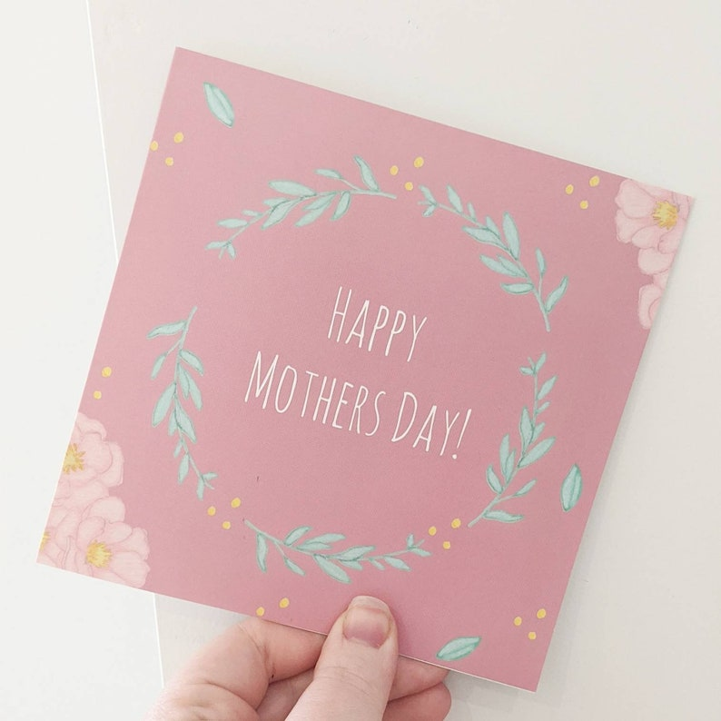 Mother's Day Card Floral Mothers Day image 0