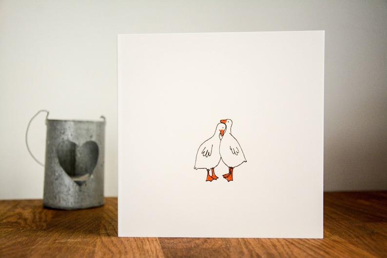 Ducks In Love Greetings Card Ducks Valentine's Card image 0