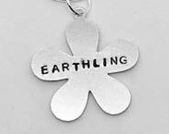Earthlings Necklace - Gift- Ethical- Vegan- Eco friendly- Recycled- plant based- jewellery- vegan jewelry-personalised