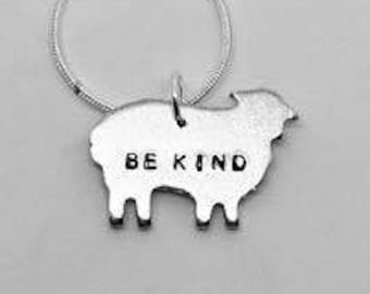 Be Kind- Sheep Necklace - Gift- Ethical- Vegan- Eco friendly- Recycled- plant based- jewellery- vegan jewelry-personalised