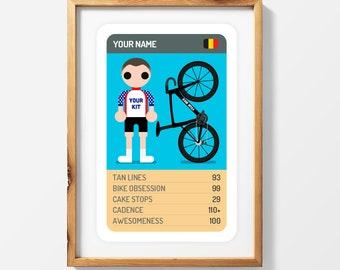 Customised Trump Card Print with Full Kit + Bike