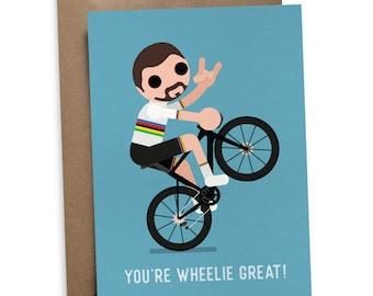 Sagan Wheelie Greetings Card