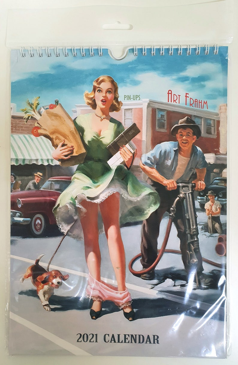 Art Frahm Wall Calendar 2021 Edit 1 Pin Up Girl Retro ...