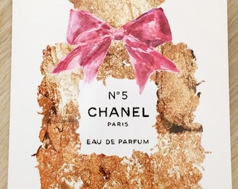 Chanel Watercolor Wall Calendar 2018 Fashion Glamour A4 New Edition 2